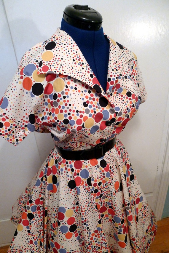 Reproduction 1950s Style Blouse and Circle Skirt--Skirt is a Small, Shirt is Medium