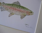 Trout Watercolor Print