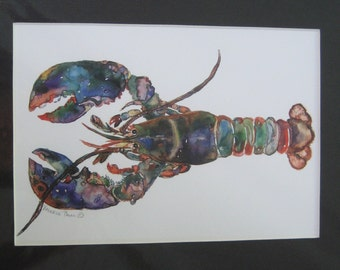 8x10 Maine Lobster Watercolor Print