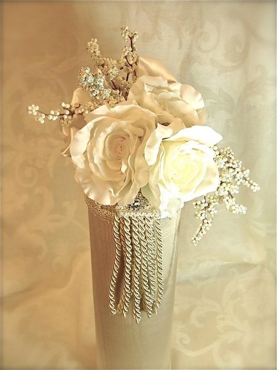 Wedding Champagne Holder, Wine Holder, Pre-wrapped Elegantly, Re-useable