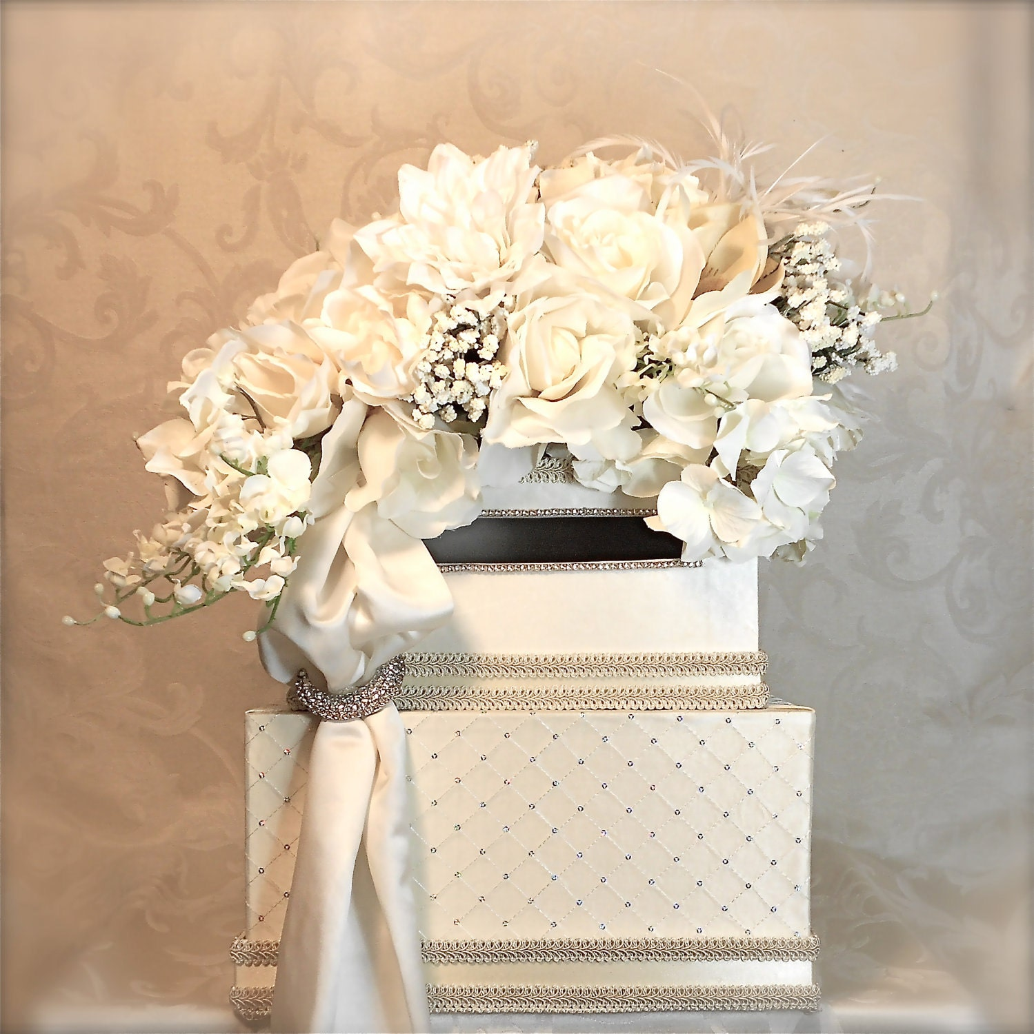 Wedding Card Boxes For Receptions: Wedding Card Holder With Lock Wedding Box Lilly Of Valley