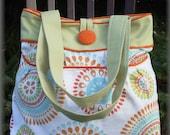 Orange & Green Circles Hobo Bag