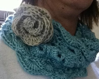 The Perfect Cowl with Detachable Flower