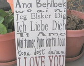 So Many Ways to Say I Love You Hand Painted Distressed Wood Sign