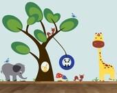 Children Wall Decals Tree Sticker Tree Decal Woodland Animals Decal