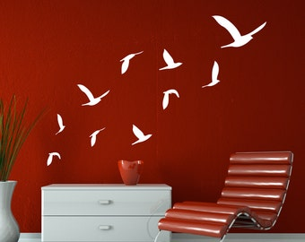 Clearance 10 Flying Birds Wall Decal Decal Sticker