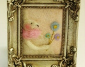 Spring Decor - Spring Felted Bunny - Spring Pastel Colors - Sring Bunny