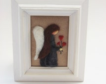 Mothers Day Gift - Mothers Day Decor - Mothers Day Angel - Felted Angel