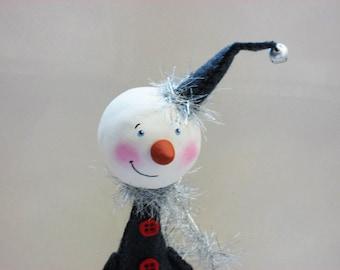 Christmas Snowman - Whimsical Snowman - Christmas Decor - Winter Decor - Made to Order