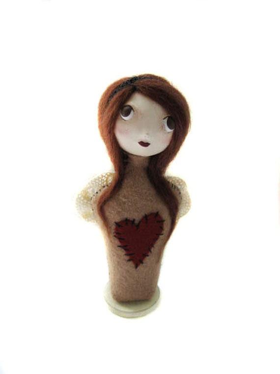 Angel Cloth Art Doll - Primitive Angel - Folk Art Angel - Made to order