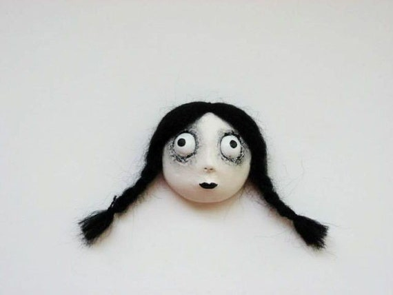 Halloween Magnet - Spooky Girl - Goth Magnet