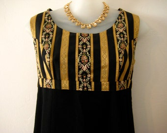 Vintage Brocade and Wool Dress 1960's Size 6/38