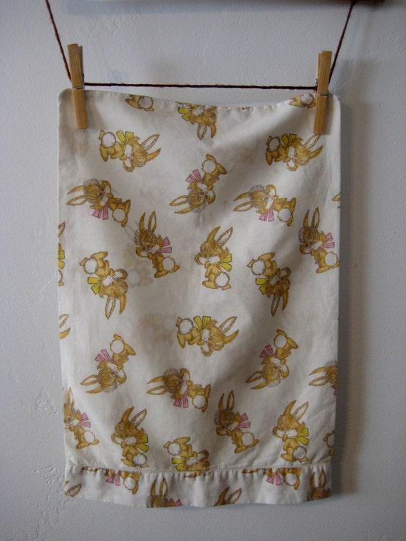 Vintage Crib Size Pillowcase Child Size