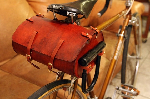 Bicycle Saddle Bags Leather Large Leather Bicycle Saddle