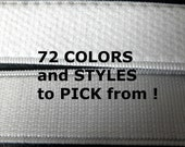 20 Yards of Elastic --Your Choice of Any One Color and Style - Pick from over 70 Choices