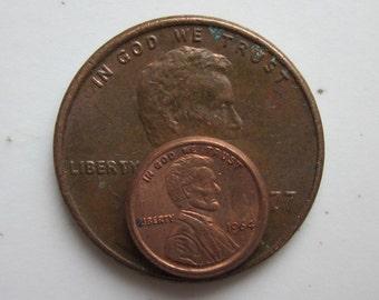 12 tiny tiny tiny pennies