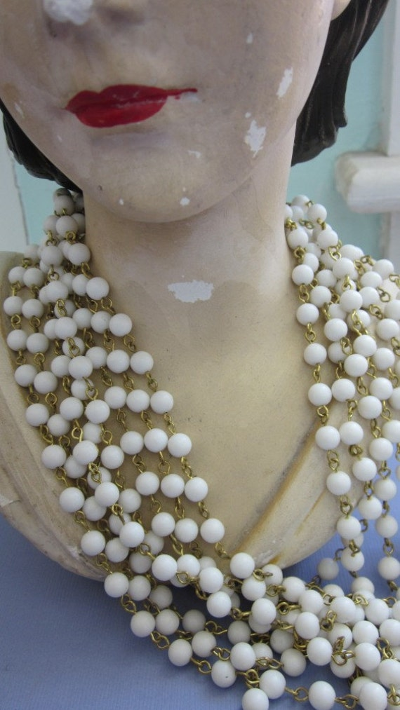 One And A Half Yards Vintage Chalk White Chain