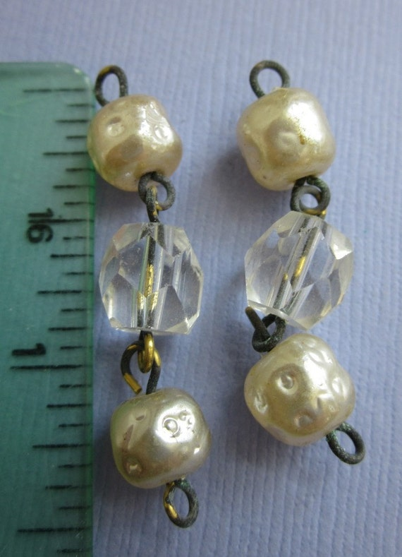 Vintage Crystal And Glass Pearl Drops