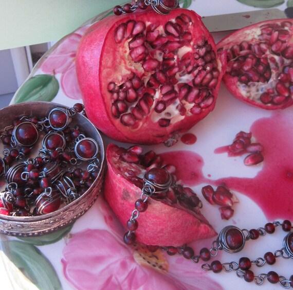 Vintage Pomegranate Glass Connector