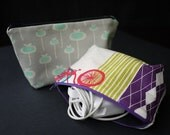 Accessory Case for Laptops, iPads, eReaders and other gadgets Pouch - fabric of your choice