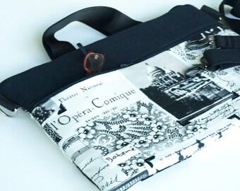 Laptop Bag macbook pro/ Macbook Pro 13 inch Laptop Sleeve/ FREE DETACHABLE STRAPS/ 2 zipper closure  Timeless Treasures