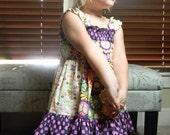 Girls Dress Pretty in Purple Size 3 'Myia' Purple Peace Polka Dot Michael Miller