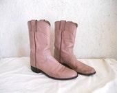 Vintage Mauve.....lous Justin Boots // Pink Roper Boots Women 8-9