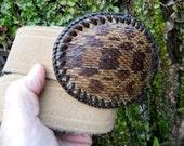 Vintage Suede Belt and Snakeskin Buckle