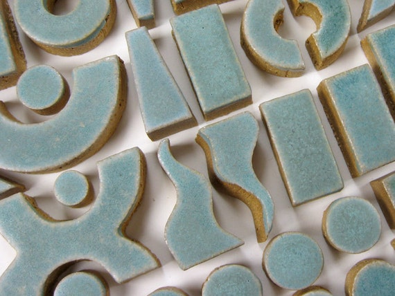 Mosaic tile hand cut Stoneware Agate 1 Lb