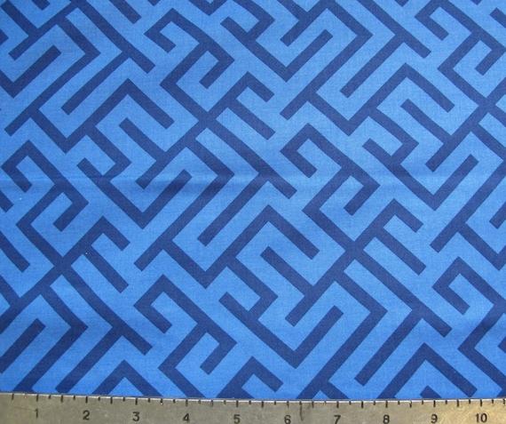 Corridors Blue Fabric YARD