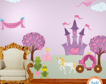 Princess Wall Decals for Girl Room - JUMBO SET