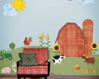 Farm Wall Stickers Decals for Kids Room & Nursery - JUMBO SET