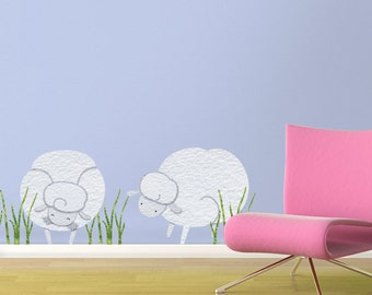 Sheep Wall Stickers Decals for Baby Room Wall Mural (stk1101)