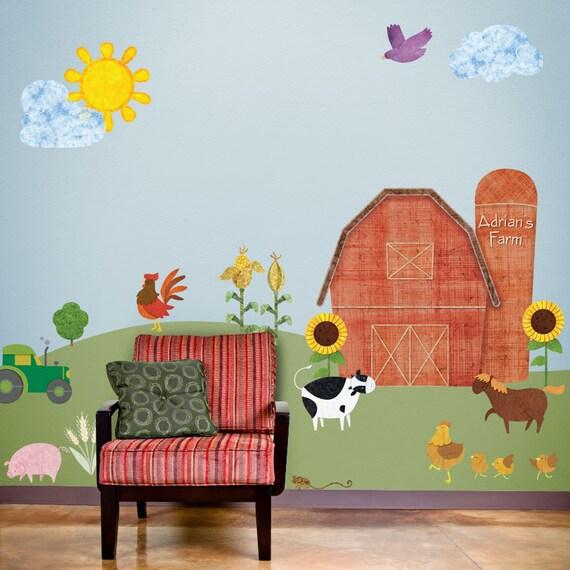 Kids Room Wall Decals Farm Wall Decals Farm Animal Decals: Farm Wall Stickers Decals For Kids Room & Nursery JUMBO SET
