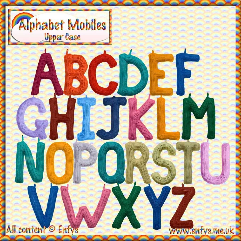 Free Crochet Pattern Alphabet Letters : Unavailable Listing on Etsy