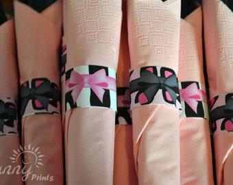 Pajama Glam (leopard/zebra print) printable napkin rings