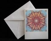 Elver Pods Blue note cards, set of 4 mandala