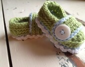 Baby booties, baby shoes, crochet baby shoes