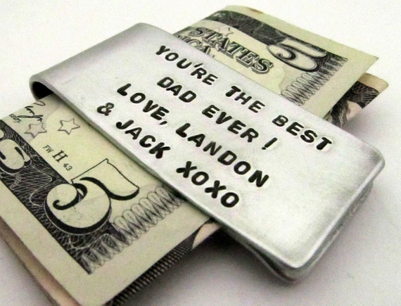 Personalized Money Clip - Hand Stamped Accessories with Scripture - Custom Mens Gift - Groomsmen Gift