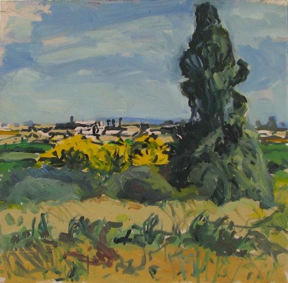 Days of the Acacia (2) - original landscape painting, Shirley Kanyon
