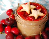 Pie in a Jar Cherry, Star Shaped Crust, All American Red Bing Cherries, Original Gift