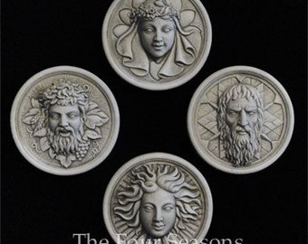 The Four Season wall plaques by Jay W. Hungate