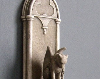Gothic Arch Shelf PLUS Guardian Of Hopes and Dreams (matched set) by Jay W. Hungate