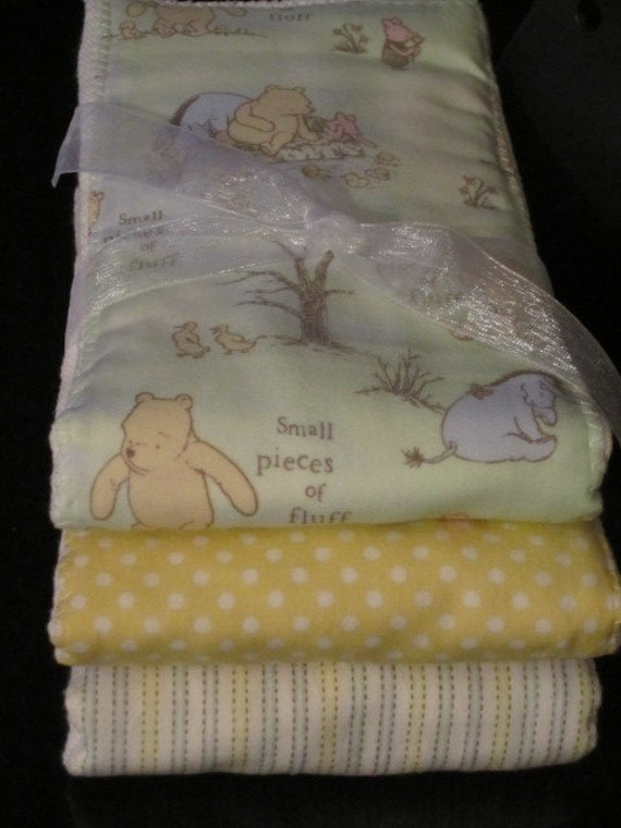PREMIUM 6 ply burp cloth diapers Calssic Winnie the Pooh