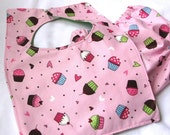 Reversible Cupcake Party Bib and Bloomers FREE SHIPPING