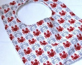 Beach Party Crab Baby Bib FREE SHIPPING