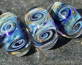 Galactic Storm Galaxy Bead       Handmade Boro Lampwork Glass Bead Set Beads by Christina Burkhart