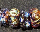 Organic Variety Set Handmade Boro Lampwork Glass Bead Set Beads by Christina Burkhart