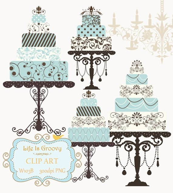 Pedestal Cake Stand Clip Art