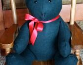 CASHMERE Heirloom Christmas Teddy Bear -- Hunter Green